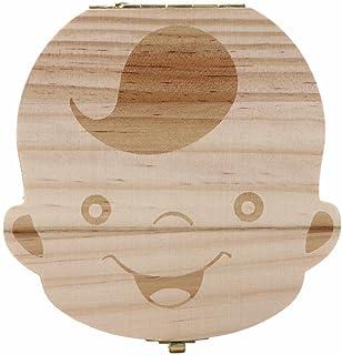 Chico Wicemoon Cajita de madera para guardar los dientes leche para ni/ña o ni/ño