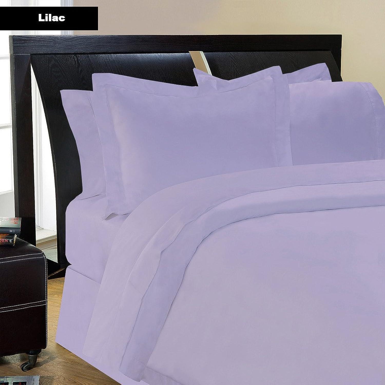 Drap -3PC 600tc Italien Finition violets Lavande Couleur Unie UK-King Taille 100% Coton égypcravaten en Paradis d'outre-mer