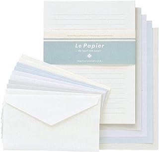 キュービックス レターセット カラード 5冊 ホワイト 991089-00