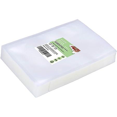 AKZIM 真空パック袋 バキュームシーラー 20*25cm 100枚入り 真空パック機専用袋 真空ビニール 真空包装袋 専用抗菌袋 脱気密封 鮮度長持ち 食品保存 低温調理 PA+PE素材 20cm*25cm*100枚入り