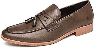 JJESC Business Oxford Men's Casual Loafers Synthetic Leather Non-slip Tips