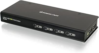 IOGEAR 4-Port USB DVI KVM Switch w/Full Set of Cables, (GCS1004)