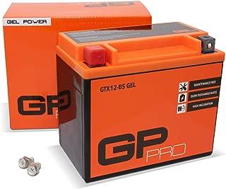 GP-PRO GTX12-BS - Batería de arranque para motos, 12V, 10Ah, parecido a YTX12-BS / 51012, sin necesidad de mantenimiento
