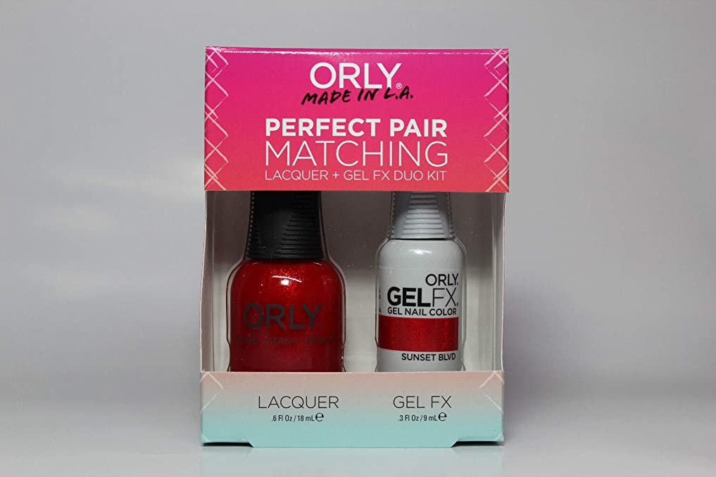 忘れっぽい私達ペンOrly - Perfect Pair Matching Lacquer+Gel FX Kit - Sunset Blvd - 0.6 oz / 0.3 oz