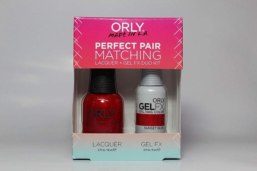 海嶺以内に矩形Orly - Perfect Pair Matching Lacquer+Gel FX Kit - Sunset Blvd - 0.6 oz / 0.3 oz