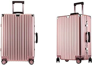Simple Suitcase,Handbag Travel Case Color : Pink Stripes, Size : 24 20 Inches The Latest Style Huijunwenti Trolley Case Soft Bag Travel Storage Bag