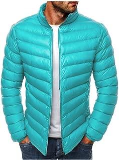 VigorY㉿ Men's Packable Down Jacket Lightweight Water-Resistant Packable Hooded Puffer Jacket Winter Jacket