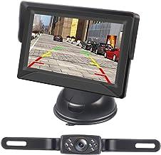 $29 » Kecxny HD Wired Backup Camera with 4.3 Inch Monitor, IP68 Waterproof Car Rear View Backup Camera LED Light Night Vision Li...