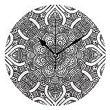 ALLdelete# Wall Clock Hauptdekoration Ethnische und Stammes-Muster drucken Wanduhren für Wohnzimmer...