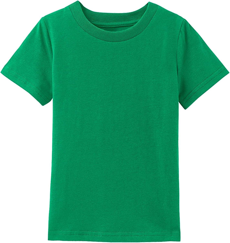 A&J DESIGN Baby & Toddler Heavyweight Cotton Short Sleeve T-Shirts