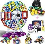 COOLJOY Bloques de Construcción Magnéticos, Bloques de Construcción Magnéticos 3D con Letra y Número en Plástico, Juguete Educativo