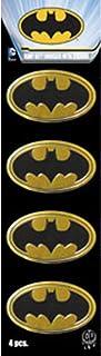 "C&D Visionary DC Comics Batman Logo 4pcs Mini Gold Metal Set Sticker, 1"" x 1.5"" - S-DC-0145-M-S"