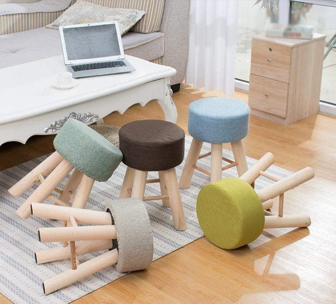 Personnalité Holzhocker Ménage Banc Mineur Petit Tabouret Rondes De Mode Chaise Créatif Petit Tabouret La mode (Color : D) A