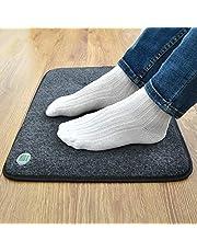 Verwarmingsmat voor voeten, elektrische verwarming, energiebesparend, voetwarmer voor caravan, thuis en op kantoor, 2 maten