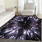 Galaxy Dining Room Home Bedroom Carpet Floor Mat Speed of Life Space Travel...