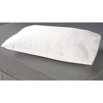 "Sleeprest Set of 2 Cotton Waterproof & dustproof Plain White Pillow/Covers Protectors 28""x18"""