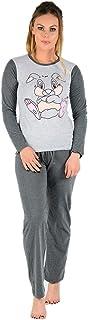 Conjunto de pijama de algodón con estampado de Mickey Mouse para mujer