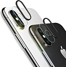 iPhone Xs Max Camera Lens Protector, [2 Pack] Ultra-Thin Anti-Scratch Camera Tempered Glass Screen Protector Film and 2pcs Camera Lens Rings Compatible iPhone Xs Max/XS