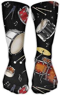 Rock Drum Stand Calcetines deportivos largos para hombre Calcetín de fútbol para béisbol