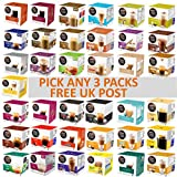 Nescafe Dolce Gusto Coffee, Tea, Chocolate Pods. Pick Any 3 Packs from 37 Blends Including: Espresso, Latte, Tea, Hot Chocolate and More