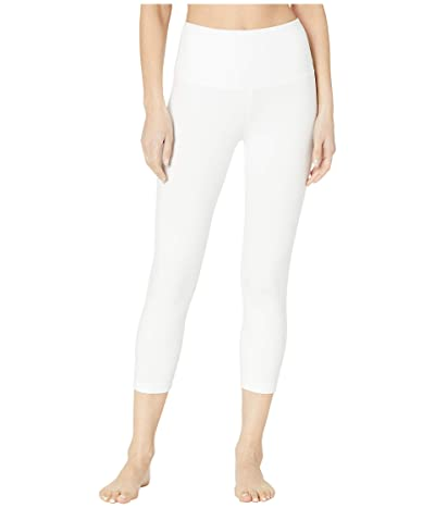 Lysse Cropped Cotton Leggings (White) Women