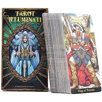 vogueyouth Illuminati Kit Tarot Cards - 78 Cartas de Tarot a Todo Color para Juegos de Fiestas Familiares: Amazon.es: Hogar