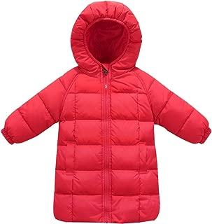 Happy Cherry Baby Girls Long Down Coats Lightweight Outwear Winter Hooded Jackets