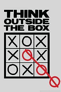 Think Outside The Box Tic Tac Toe Humor Cool Wall Decor Art Print Poster 12x18