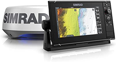 $4299 » Simrad NSS9 Evo3S - 9-inch Multifunction Fish Finder Chartplotter with HALO20+ Radar, Preloaded C-MAP US Enhanced Charts