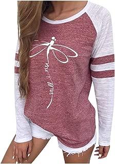 Autumn Ladies Loose Sweater Crew Neck Long Sleeve Shirts Women Casual Sports Tops Print Streetwear