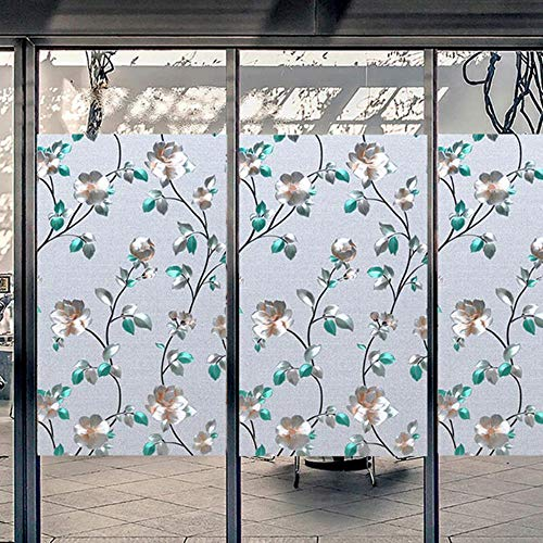 Breed 45/60/90 cm Geen lijm Frosted Window Cover Film Privacy Protection Stained Waterproof Static Cling Glass Window Sticker CW03, wide45cm lang 50cm