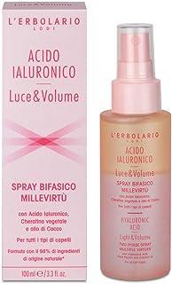 L'Erbolario, Spray Bifasico per Capelli MilleVirtù Acido Ialuronico Luce e Volume, Trattamento Multiuso con Cheratina Vege...