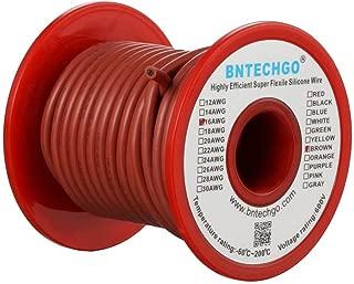 BNTECHGO - Cable de silicona suave y flexible de calibre 16AWG con 252hilos de alambre de cobre estañado, resistente a temperaturas altas, altamente eficiente