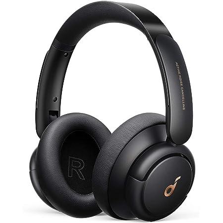 Anker Soundcore Life Q30(Bluetooth5.0 オーバーイヤー型ヘッドホン)【アクティブノイズキャンセリング / 外音取り込みモード / NFC・Bluetooth対応 / ハイレゾ対応(AUX接続時) / 最大40時間音楽再生 / マイク内蔵 / ワイヤレスヘッドホン】ブラック