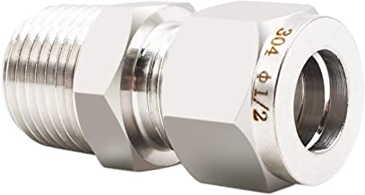 Horiznext Stainless Steel npt Compression Fitting, 1/2