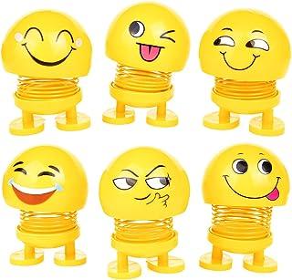 PROLOSO Emoji بهار لرزیدن عروسک های هدایا عروسک های لبخند لبخندی رویایی اسباب بازی حزب تم برای داشبورد صفحه نمایش دکوراسیون بسته 6