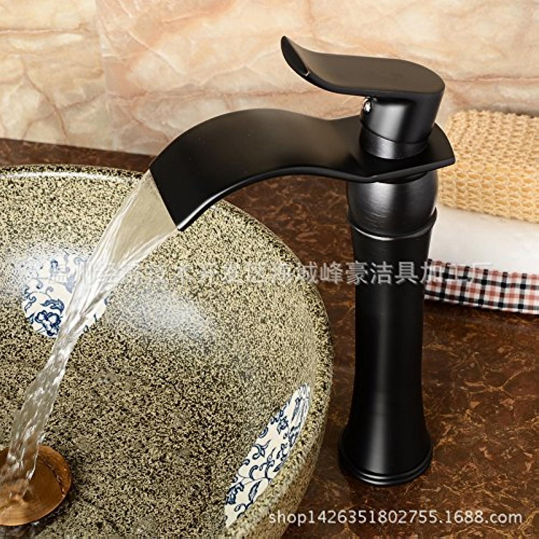 Ddlli Badarmaturen für Küchenspülen Wasserhahn Duscharmatur F6schwarz Bronze Waschtischarmaturen Hot and Cold Kupfer Wasserhahn Hot And Cold Becken Wasserhhne über Counter Basin