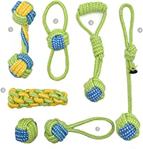 Bones Cotton Natural Rope Dog Toys for, Small to Medium Dogs Pets Teeth Cleaning Toys,Chew Rope Tug Toys Sturdy Bite-Resistant,Green