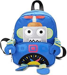 Kid's 3D Cartoon Robot School Bag Backpack Children Baby Anti-Lost Playing Backpack
