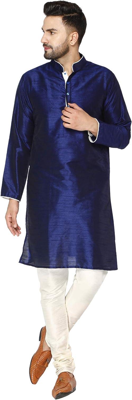 SKAVIJ Men's Art Silk Kurta New mail order Annivarsary Indian Super-cheap Pajama Set Ethnic