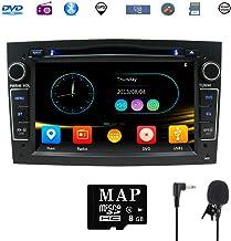 Car Stereo Satellite GPS Navigator para Opel, Unidad Head 7 Pulgadas 2 DIN Car Stereo con Soporte para Reproductor de CD y DVD GPS, USB SD, FM Am RDS, Bluetooth, SWC(Negro)