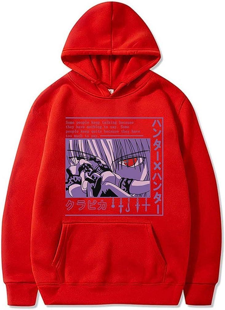 RongJun Anime Kurapika Cosplay Hoodies Casual Hooded Aweater with A Hood US