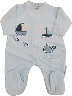 Baby boy or girl White Velour Sleep-suit with Reindeer /& Santa/'s Little Helper