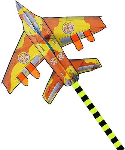 seguro de calidad LQW HOME-kite 300 cm Largo Aviones Cometa Nylon Ripstop Ripstop Ripstop diversión al Aire Libre Deportes Cometa Juguetes voladores para Niños (Color   amarillo, tamaño   100 Meter Line)  contador genuino