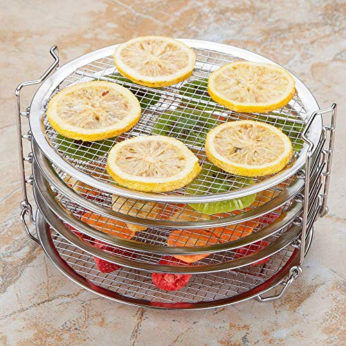 Best Prices! TbpersicwT Dehydrator Grill, Five Stackable Layers Dehydrator Grill Stand Rack for Pres...