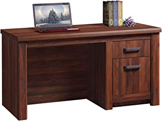 Homes r us Braxton Collection Office Desk for computer, writing and gaming, Walnut - 140 x 72 x 77 cm