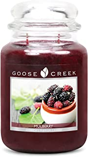 Goose Creek Candles Mulberry Scented Essential Jar Candle, Top Quality Great Fragrance, 24 oz