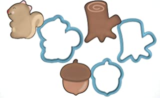 Woodland Creatures Cookie Cutter Set - American Confections - Squirrel, Acorn, Tree Stump - MADE IN THE USA