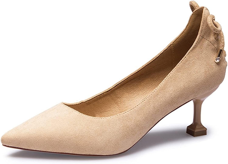 JIANXIN Frauen Frühling Und Sommer Mode Wies Wies Wies Schuhe Mit High Heels Und High Heels. (Farbe   Braun, größe   36)  68c13a