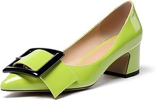 elashe- Scarpe col Tacco - Decolleté Chiuse Donna - Elegante Alto 2 Pollici - Tacco a Blocco